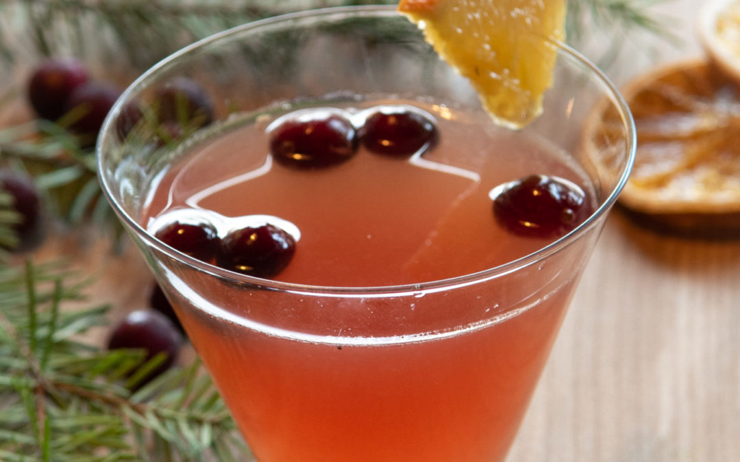 Kombucha Christmas Cocktail